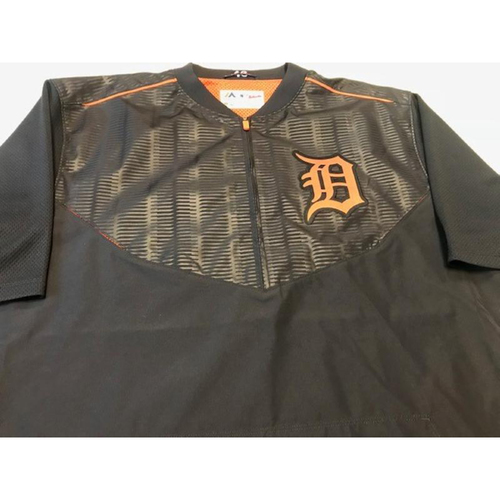 Photo of 2017 Team-Issued Detroit Tigers #46 Road Batting Practice Jacket