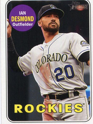 Photo of 2018 Topps Heritage #122 Ian Desmond