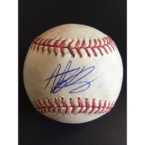 Photo of Anthony Rizzo MLB Debut (6/9/11) Game-Used & Autographed Baseball