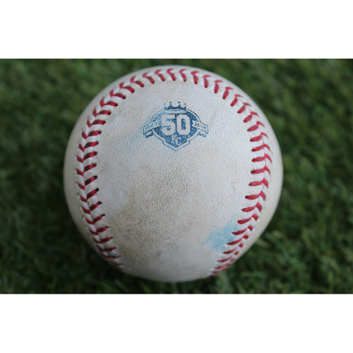 Photo of Game-Used Baseball: Andrew Benintendi 277th Career Hit and Mookie Betts Fly-Out (BOS at KC - 7/6/18)