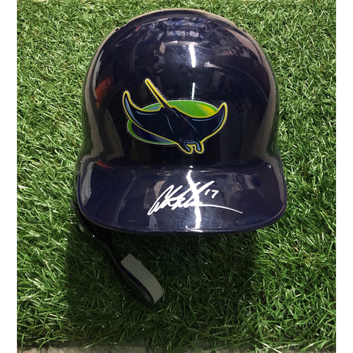 Photo of Game Used Autographed Batting Helmet: Austin Meadows HOME RUN off Tim Mayza - September 29, 2018 v TOR