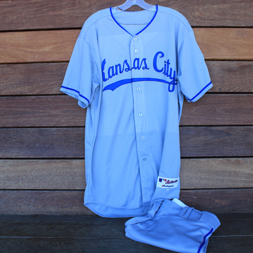 Photo of Game-Used 1969 Throwback Jersey and Pants: Kevin McCarthy (Jersey Size 46 - KC @ WSH  - 7/6/19)