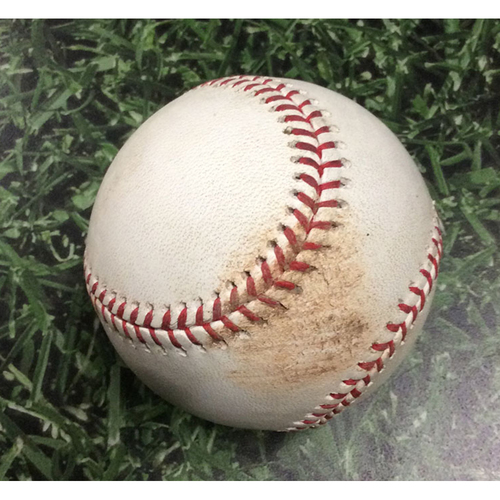 Photo of Game-Used Baseball SD@MIL 09/16/19 - Ronald Bolanos - Eric Thames: Single