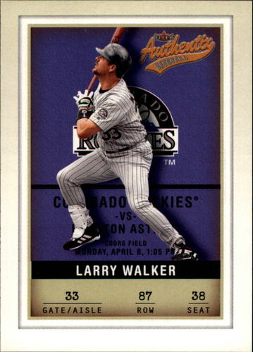 Photo of 2002 Fleer Authentix #87 Larry Walker