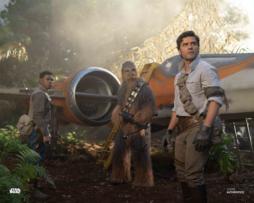 Poe Dameron, Finn and Chewbacca