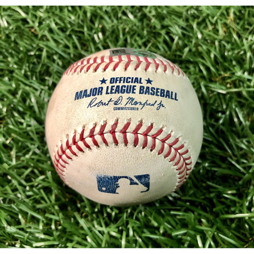 Photo of Game Used Baseball: Aaron Loup strikes out Bo Bichette - Aaron Loup's First Strikeout as a Ray - July 26, 2020 v TOR