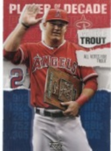 Photo of 2020 Topps Player of the Decade Mike Trout #MT10 Mike Trout