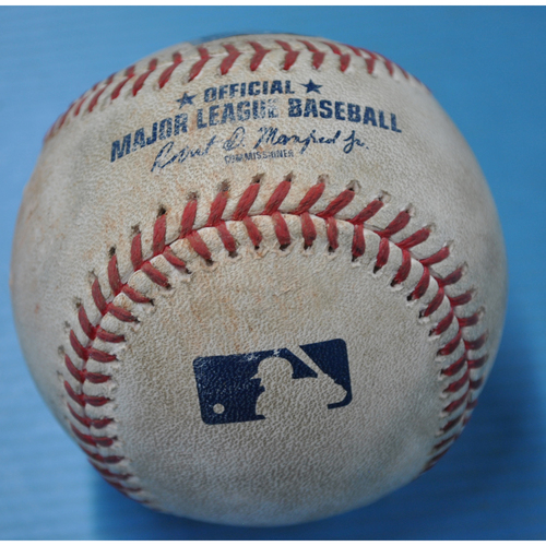 Photo of Game-Used Baseball - DET at PIT - 8/9/2020 - Pitcher - Spencer Turnbull (DET), Batter - Erik Gonzalez, Bot 4, Single