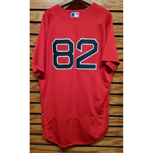 Photo of Coach Tom Goodwin #82 Team Issued Red Home Alternate Jersey