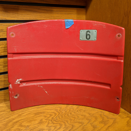 Photo of Fenway Park Red Right Field Box 89 Seatback #6