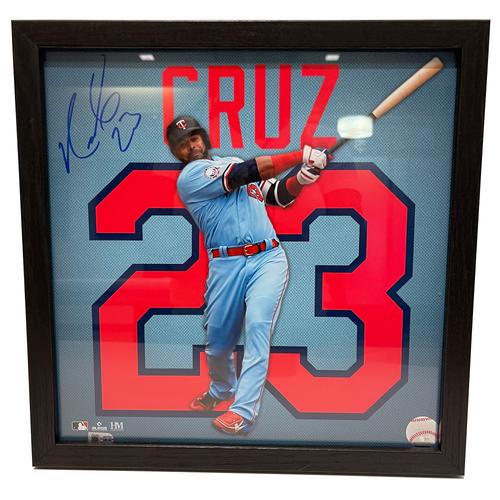 """Photo of Minnesota Twins Nelson Cruz Autographed 13""""x13"""" Uniframe"""