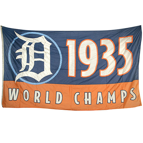 Photo of Detroit Tigers 1935 World Champions Banner