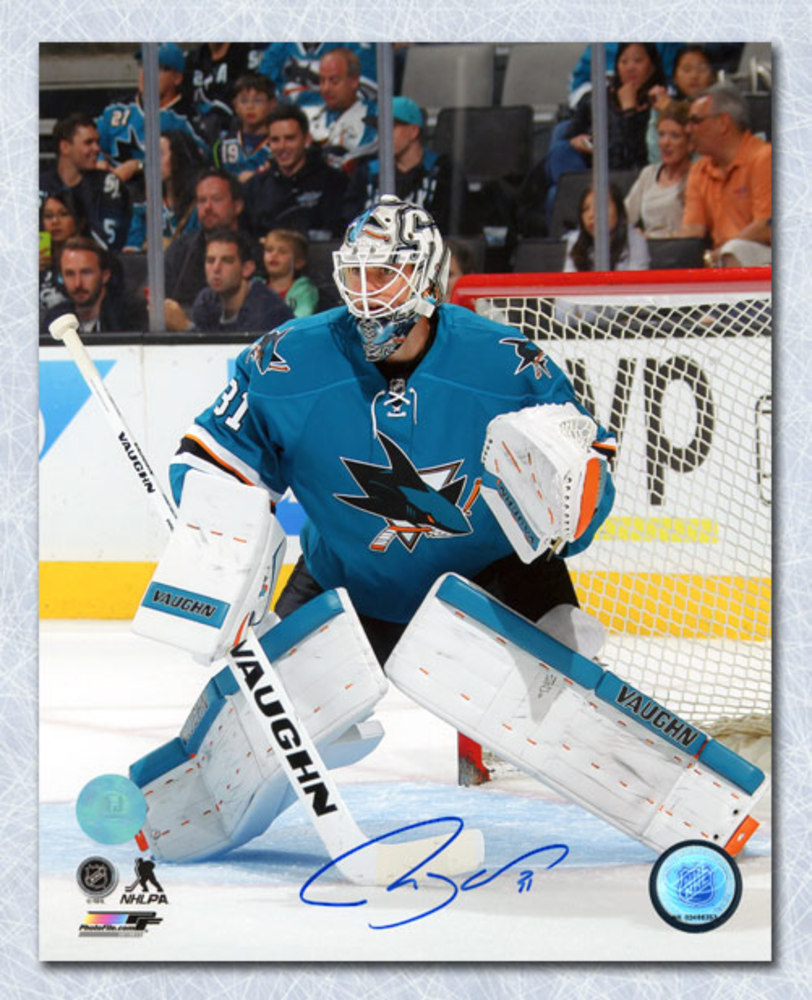 Martin Jones San Jose Sharks Autographed Hockey Goalie 8x10 Photo