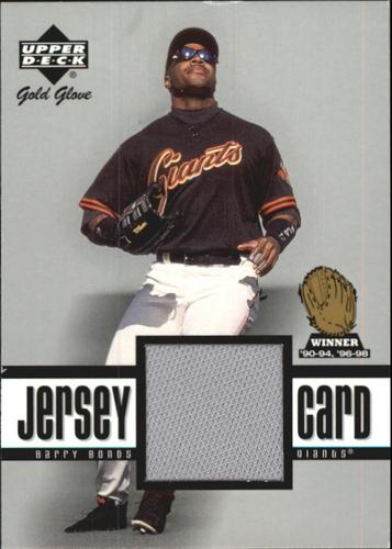Photo of 2001 Upper Deck Gold Glove Game Jersey #GGBB Barry Bonds