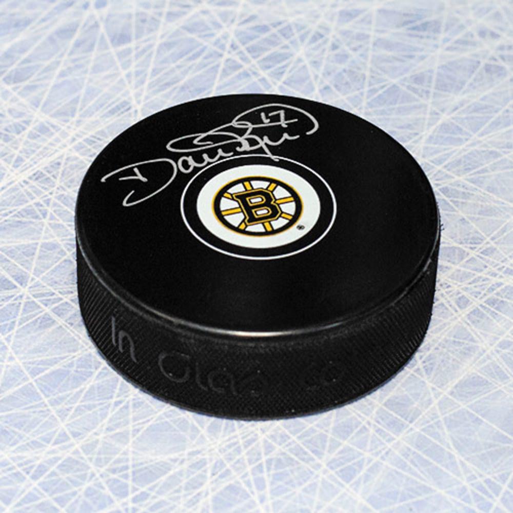 Dave Reid Boston Bruins Autographed Hockey Puck
