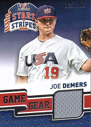 Photo of 2015 USA Baseball Stars and Stripes Game Gear Materials #47 Joe DeMers/299