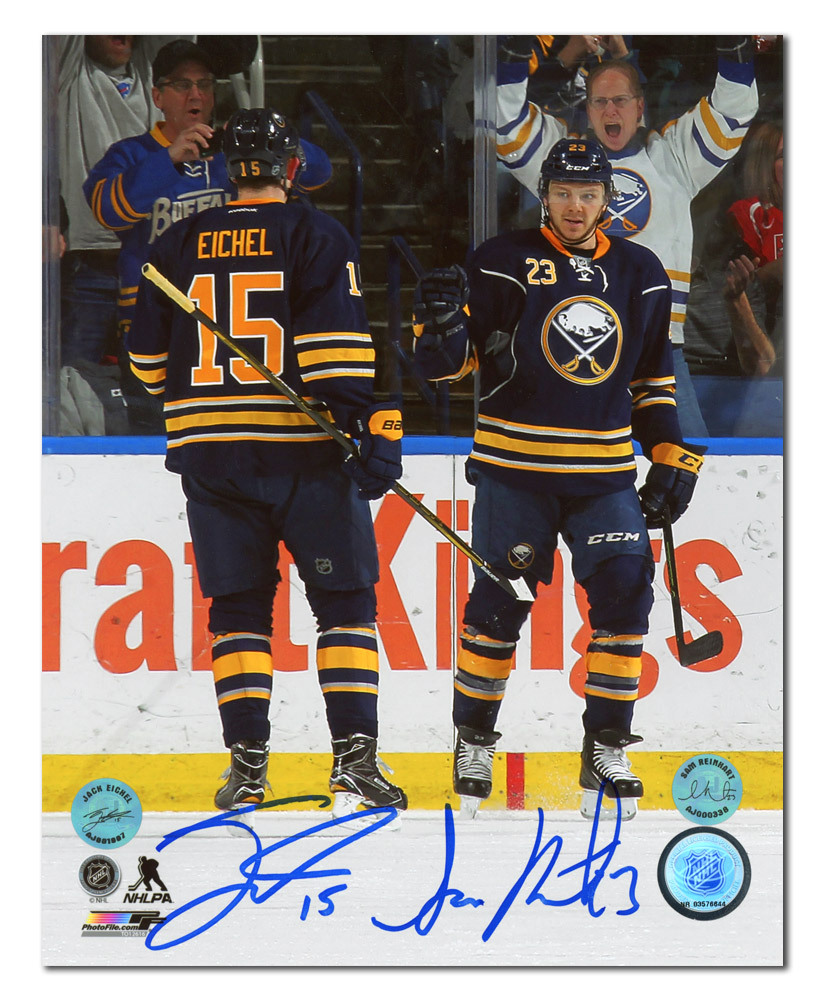 Jack Eichel & Sam Reinhart Buffalo Sabres Dual Signed Young Stars 8x10 Photo