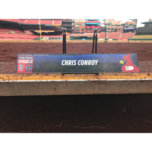 Photo of Cardinals Authentics: Chris Conroy Team-Issued Spring Training Locker Tag