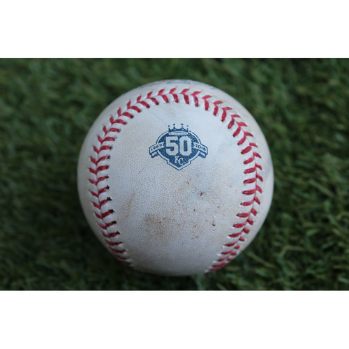 Photo of Game-Used Baseball: Chris Sale Career 1,717th Strikeout and 100th Career Win (BOS at KC - 7/6/18)
