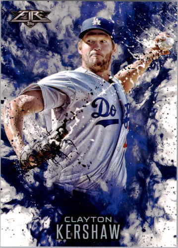 Photo of 2016 Topps Update Fire #F7 Clayton Kershaw