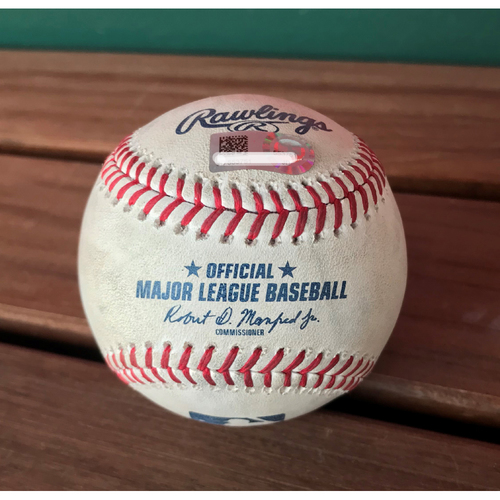 Photo of Game-Used Baseball from Nationals Record 25-Run Game - Daniel Murphy Single