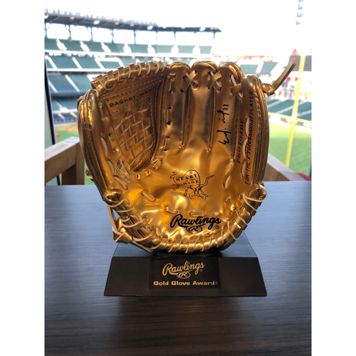 Photo of Ender Inciarte Autographed Rawlings Miniature Gold Glove Award