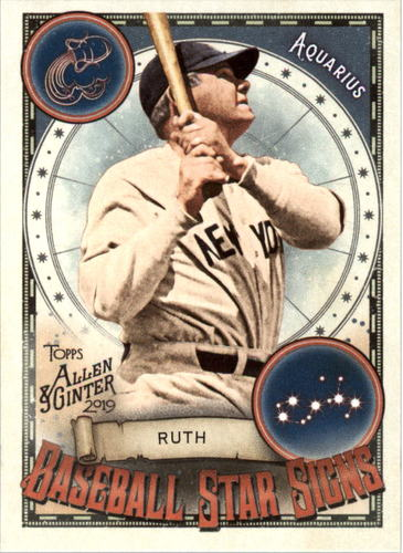 Photo of 2019 Topps Allen and Ginter Baseball Star Signs #BSS18 Babe Ruth