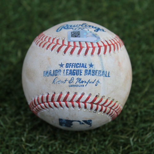 Game-Used Baseball: Charlie Tilson 6th Career Double and 23rd Career RBI (CWS @ KC - 6/9/19)