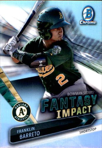 Photo of 2016 Bowman Chrome Draft Scouts Fantasy Impacts #BSIFB Franklin Barreto