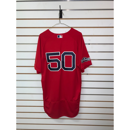 Photo of Mookie Betts Team Issued 2016 Postseason Home Alternate Jersey