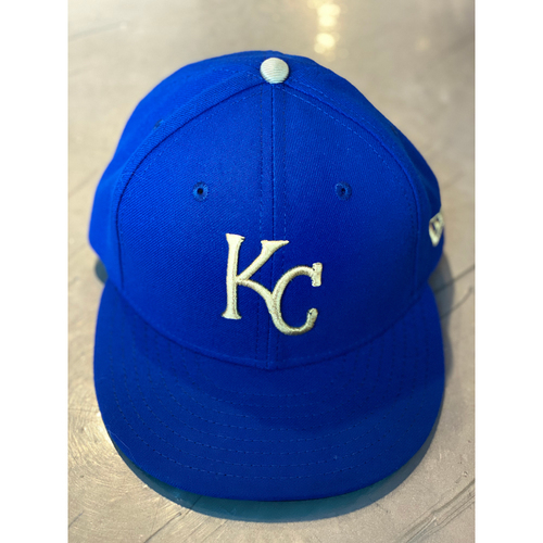 Photo of Game-Used Cap: Jakob Junis (Size 7 1/4 - MIN @ KC - 9/27/19)