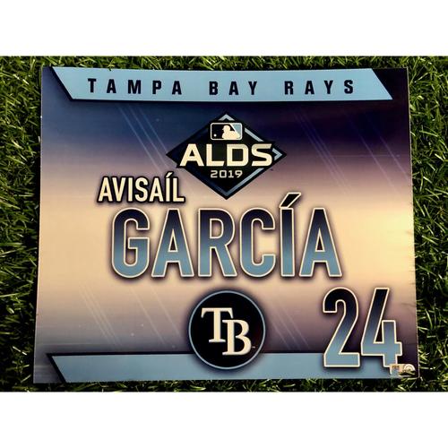 Game Used ALDS Locker Tag: Avisail Garcia - October 7, 2019 v HOU
