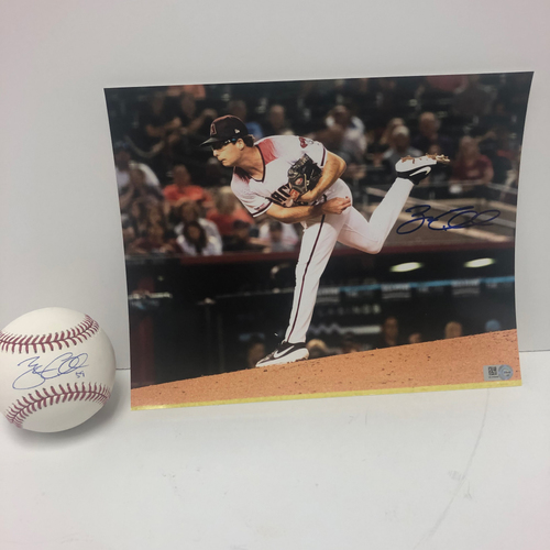 Photo of Zac Gallen Autographed Baseball and 8x10 Photo