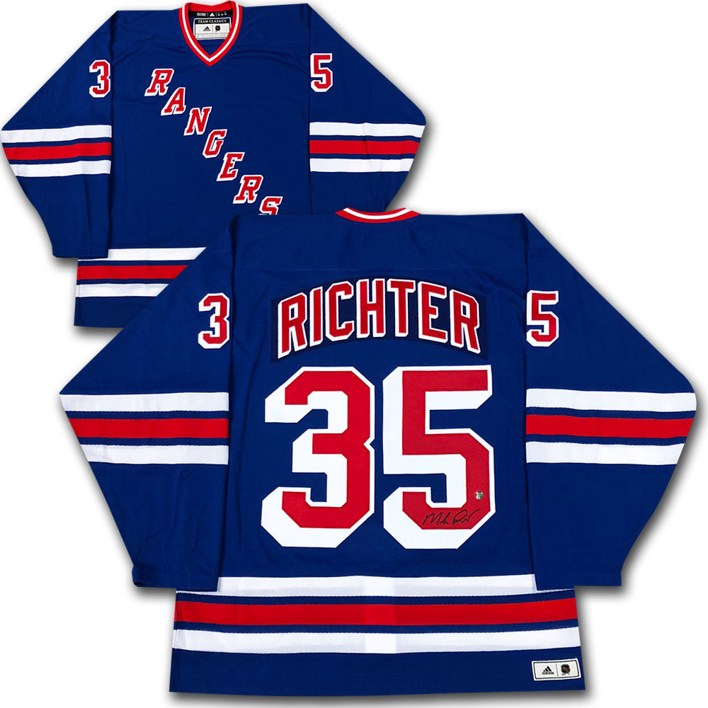 Mike Richter Autographed New York Rangers adidas Team Classics Authentic Vintage Jersey
