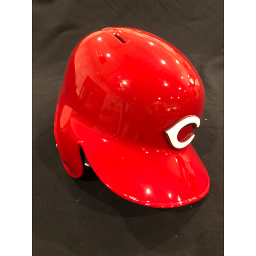 "Photo of Reds Commemorative ""No. 10"" Retired Number Helmet -- (Not MLB Authenticated, COA Included) -- Helmet Scheduled to Arrive Prior to Dec 24"