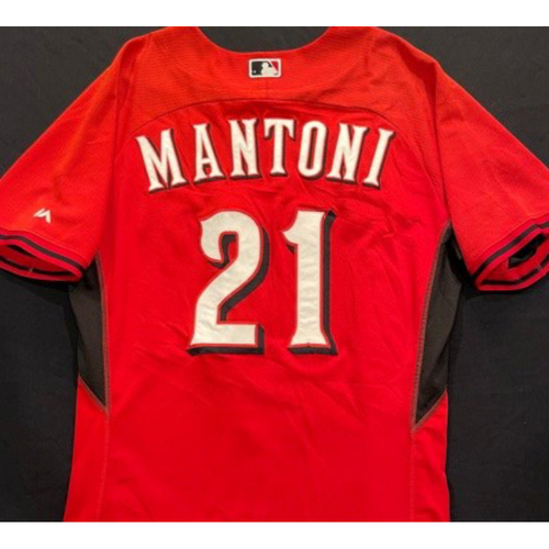 Photo of MANTONI -- Authentic Reds Jersey -- $1 Jersey Auction -- $5 Shipping -- Size 46 (Not MLB Authenticated)