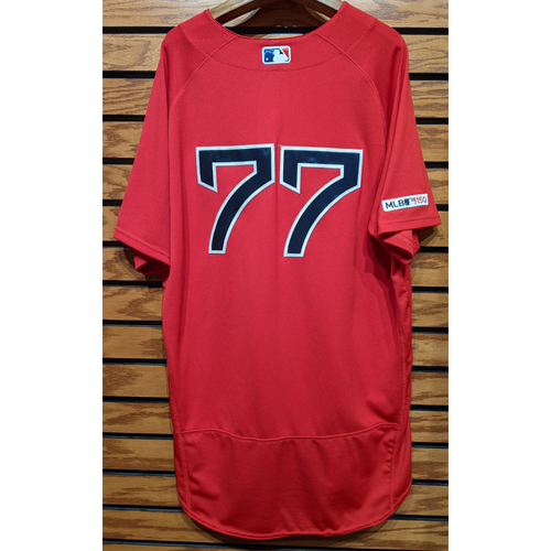 #77 Red Home Alternate Team Issued Jersey
