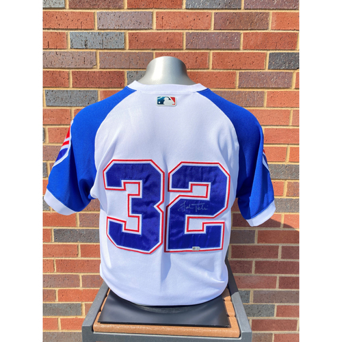 Photo of Josh Tomlin MLB Authenticated, Autographed (Team-Issued or Game-Used) 1974 Style Jersey