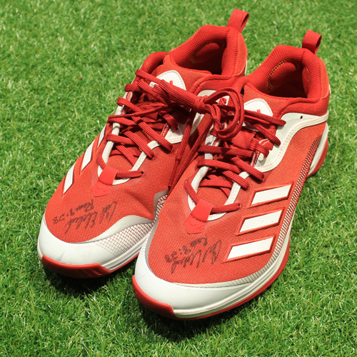 Photo of Game-Used & Autographed Trainer Shoes: Cal Eldred #21 (DET @ KC 5/23/21) - Size 14