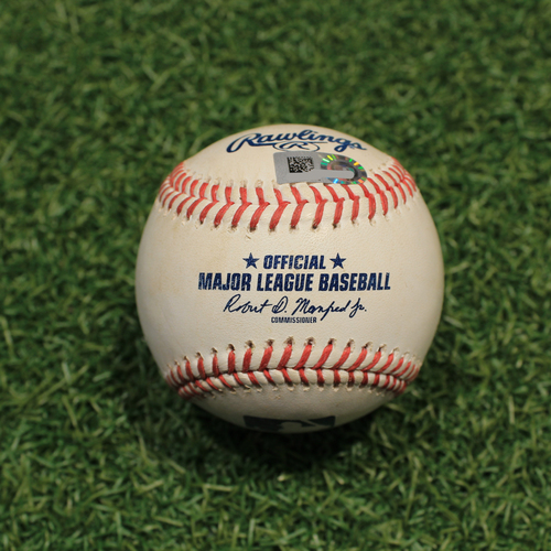 Photo of Game-Used Baseball: Ty France 240th Career Hit (SEA@KC 9/19/21)