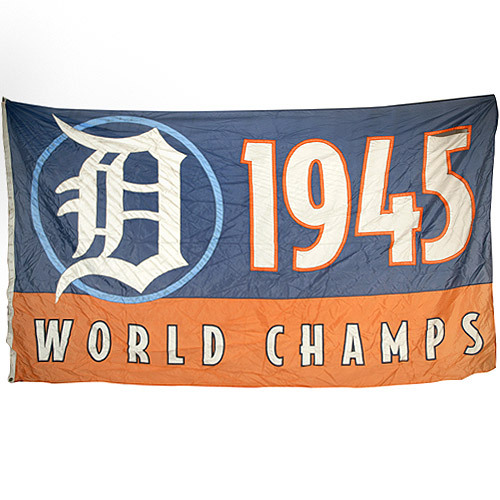 Photo of Detroit Tigers 1945 World Champions Banner
