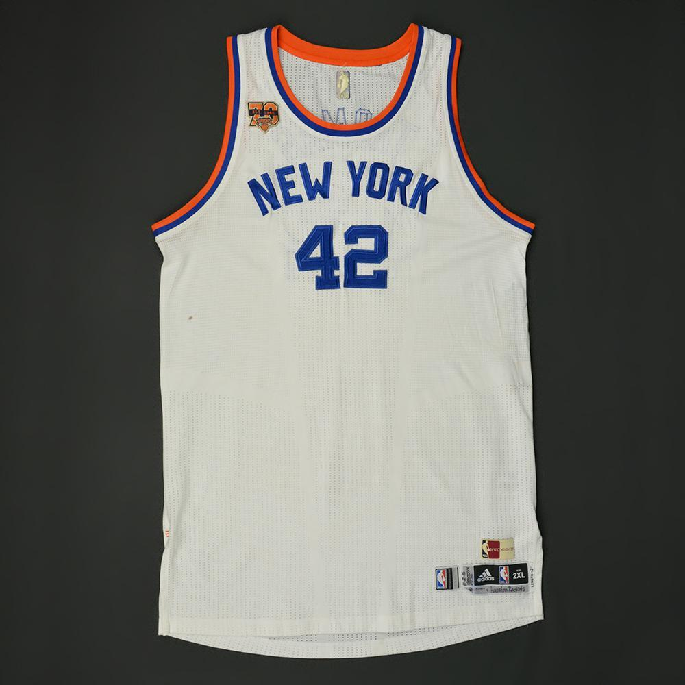 Lance Thomas - New York Knicks - Game-Worn Hardwood Classics 1946-47 Home 88739bee6