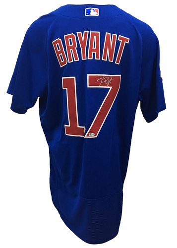 Photo of Kris Bryant Autographed Jersey: Size - 48