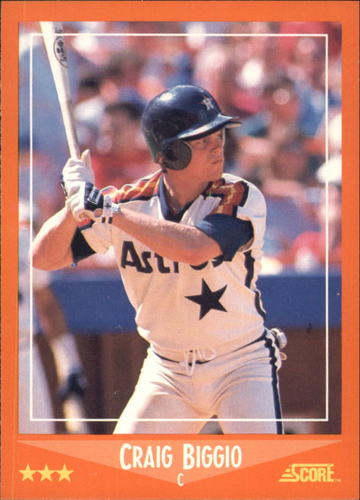 Photo of 1988 Score Rookie/Traded #103T Craig Biggio Rookie Card Hall of Fame Class of 2015