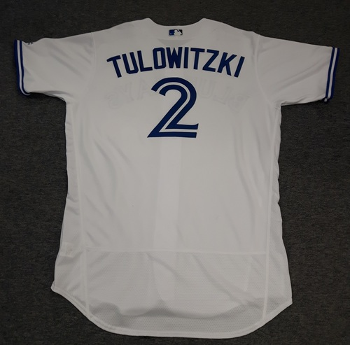 Photo of Authenticated Team Issued Jersey - #2 Troy Tulowitzki (2017 Season). Size 48.