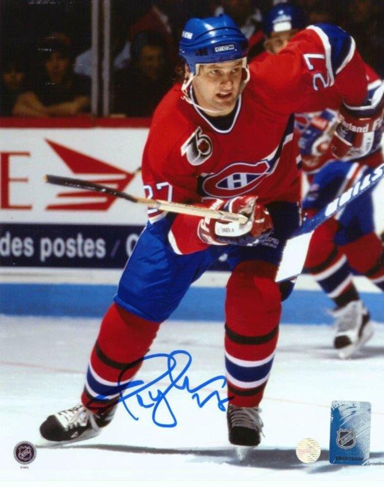 Shayne Corson - Signed 8x10 Unframed Canadiens Red-V