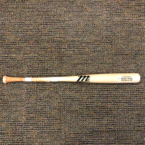 Photo of San Francisco Giants - Game-Used Broken Bat - Used by #28 Buster Posey on 4/3/2018 vs. the Seattle Mariners