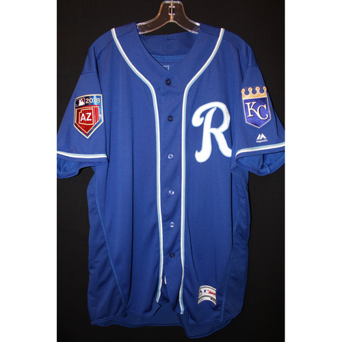 Photo of Team-Issued Spring Training Jersey: Cheslor Cuthbert (Size 48)