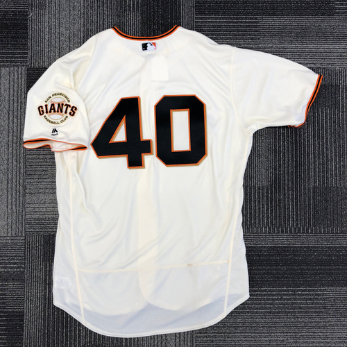 Photo of 2017 Team Issued Home Cream Jersey - #40 Madison Bumgarner - Size 50