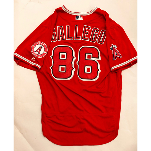 Photo of 2019 Mexico Series - Game-Used Jersey - Mike Gallego, Houston Astros at Los Angeles Angels - 5/4/19